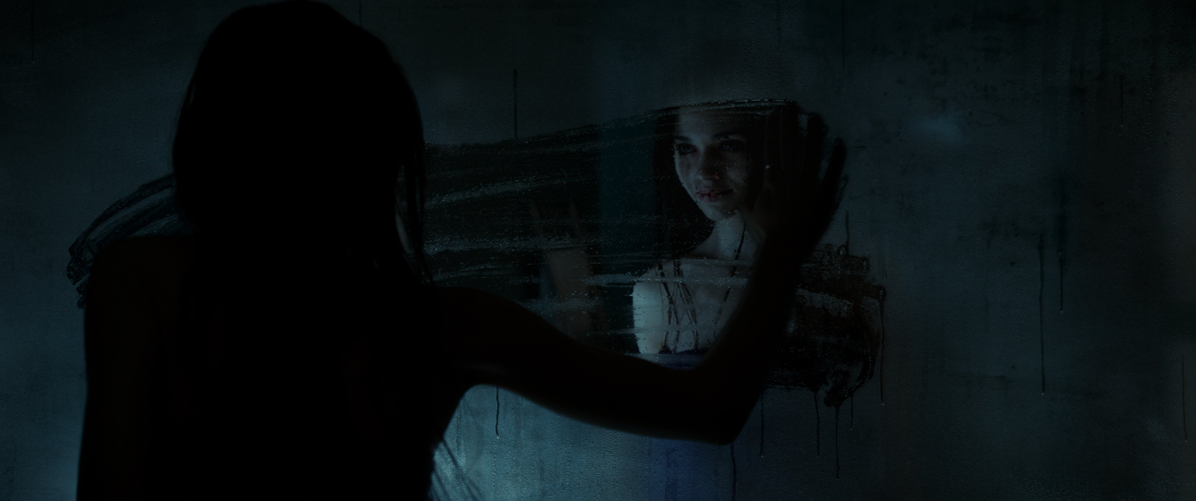Maria and her sinister reflection