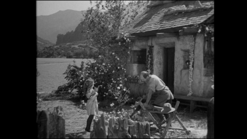 The outside scene in Frankenstein
