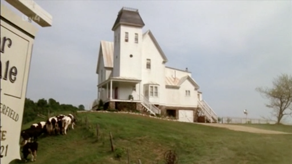 The large white house in Beetlejuice