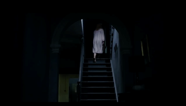The staircase in the home in The Babadook