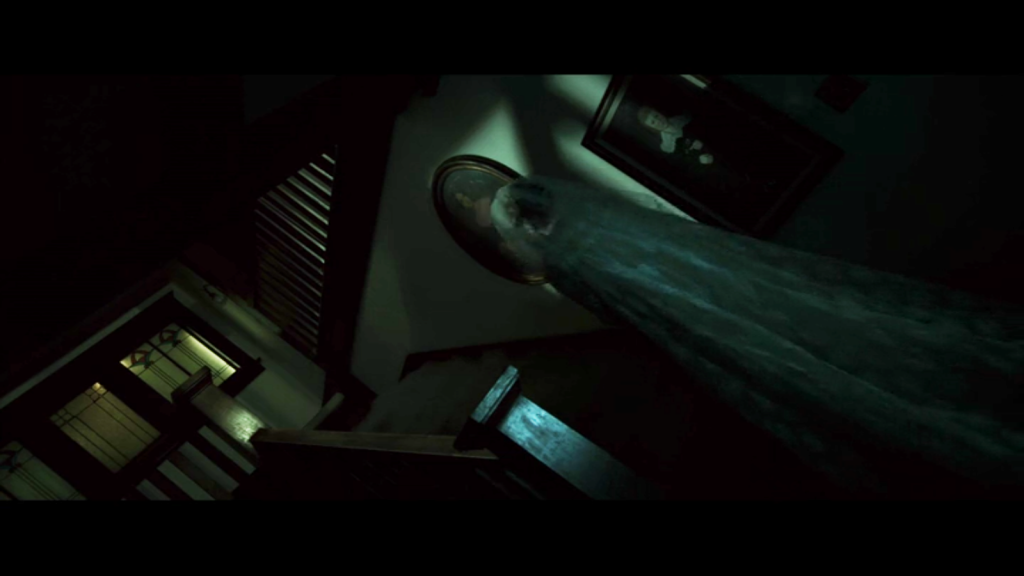Shadowy and crooked staircase in Insidious