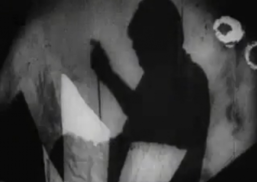 The murder of Alan in The Cabinet of Dr Caligari