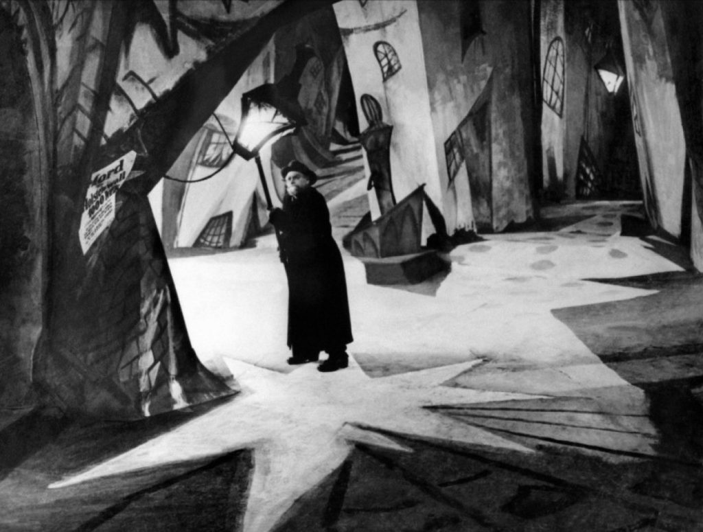 The middle of the town in The Cabinet of Dr Caligari