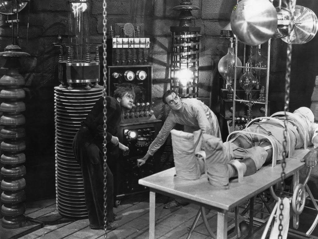 The laboratory of Dr Frankenstein