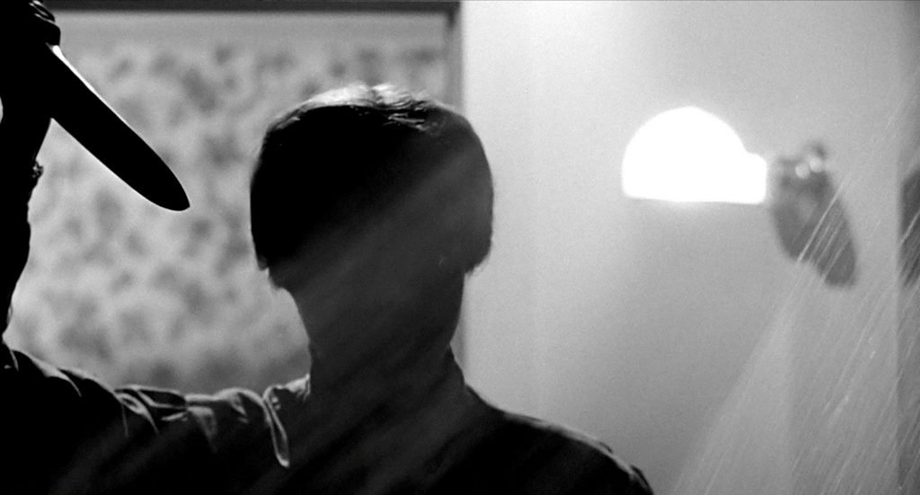 The silhouetted killer in Psycho