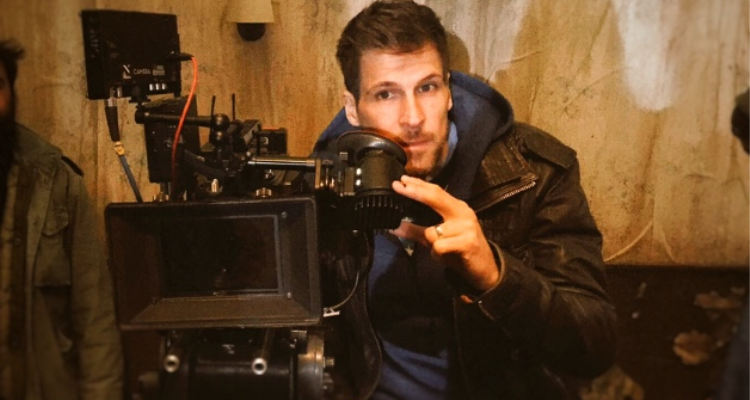 Director Giles behind the camera
