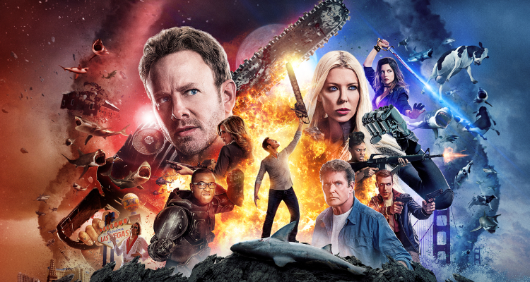 Poster artwork from Sharknado: The 4th Awakens