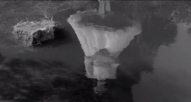 Still of the reflection of Flora from The Innocents