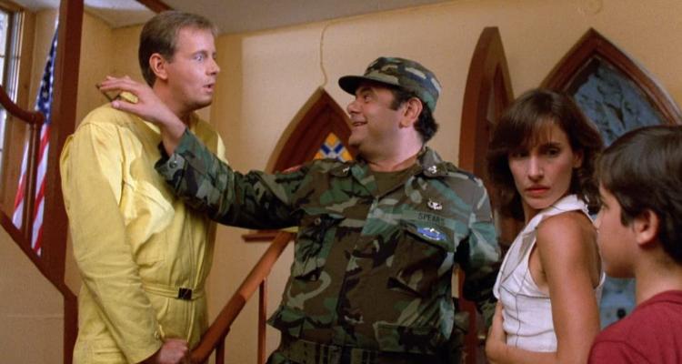 Mo, the Militia leader, Nicole and Jason in The Stuff