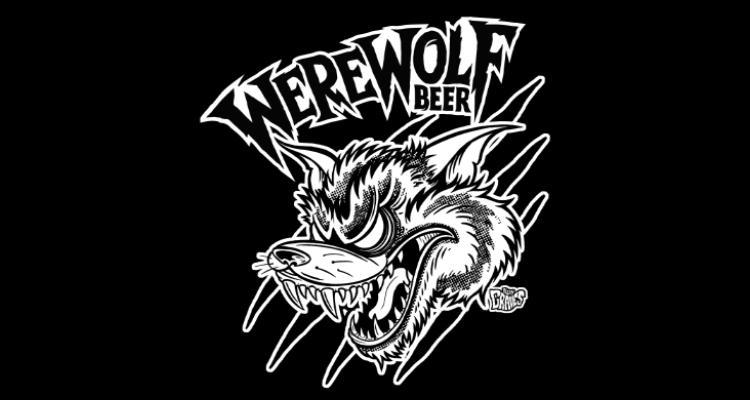 The Werewolf Beer logo by Allan Graves
