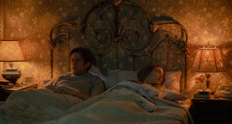 Catherine and George in bed in Things Heard and Seen