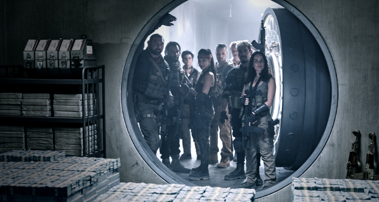 The ensemble entering the vault in Army of the Dead