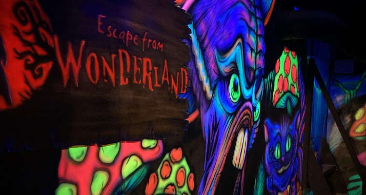 The Escape from Wonderland entrance.