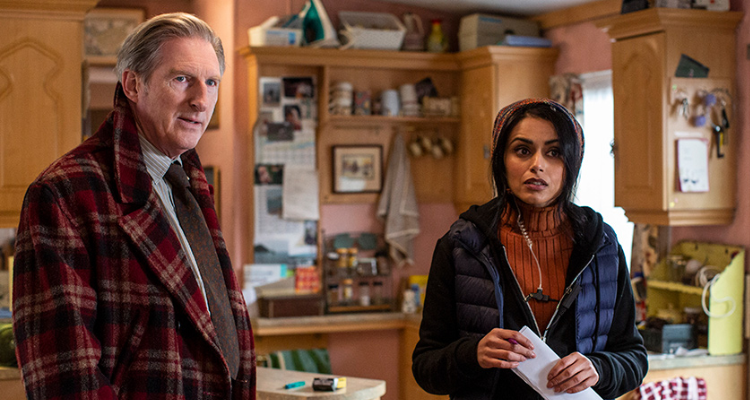 Adrian Dunbar and Bhavna Limbachia in Hurry up and Wait.