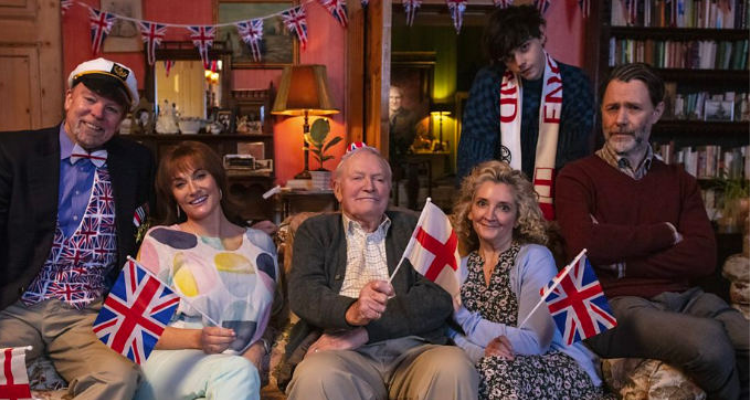 The whole family sat on the couch in Last Night of the Proms