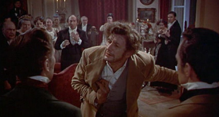 Karl pleading for help at the climax of The Revenge of Frankenstein.