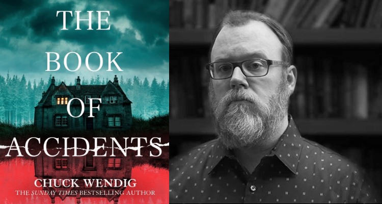 The cover of The Book of Accidents along side a picture of the author.