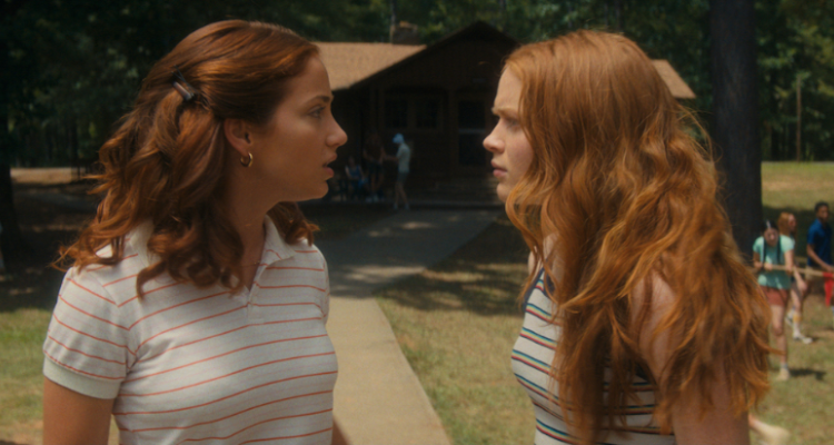 Cindy and Ziggy having an intense conversation in Fear Street 1978