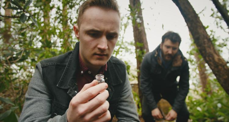 Matt holding up an empty vial