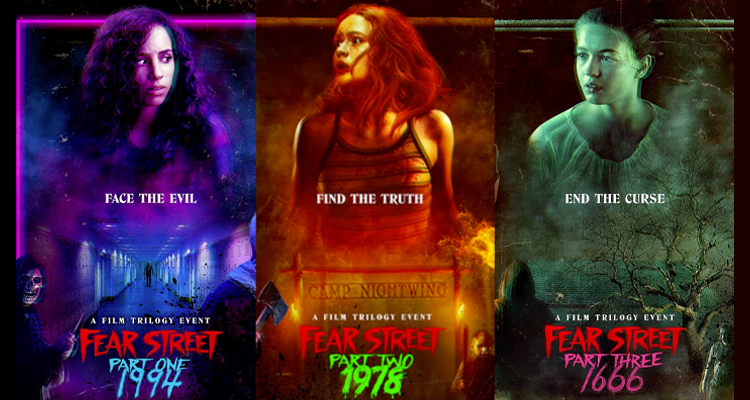 The posters of the Fear Street trilogy.
