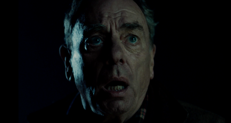 Alun Armstrong looking frightened. A still from The Nicky Nack.