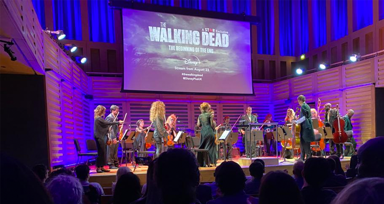 Orchestra playing music at The Walking Dead screening.